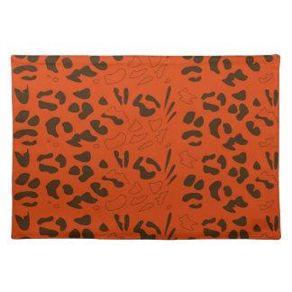 Tiger pattern brown ethno placemat