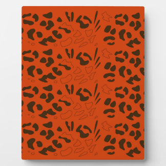 Tiger pattern brown ethno plaque