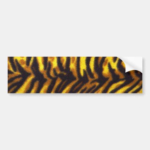 Tiger Pattern Bumper Sticker