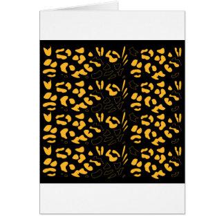Tiger pattern eco card
