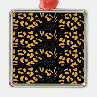 Tiger pattern eco metal ornament