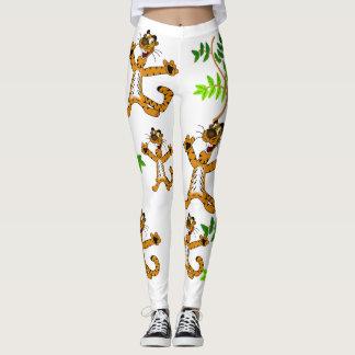Tiger pattern legging