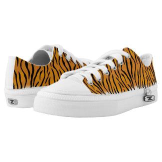 Tiger Pattern Low-Top Sneakers