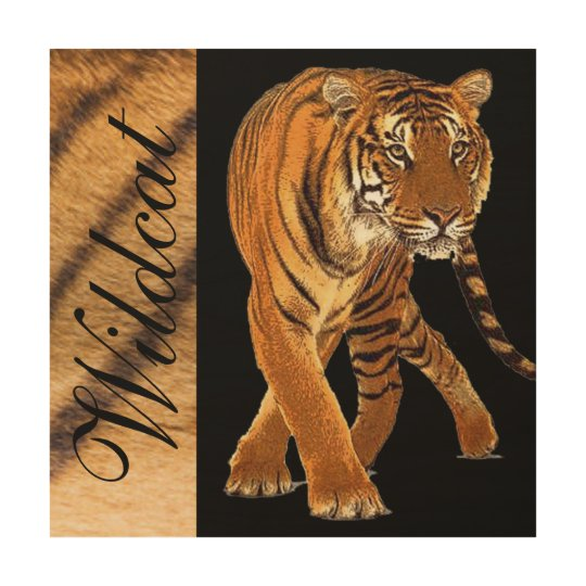 Tiger Pattern Print Black Typography