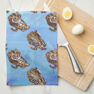 Tiger Patterns Kitchen Towel