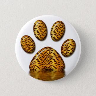 Tiger Paw #2 2 Inch Round Button