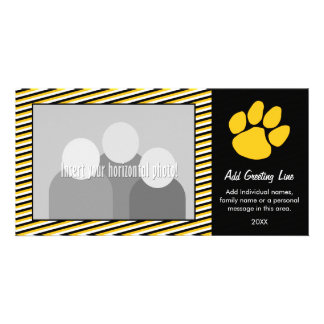 Tiger Paw Print - Sports Fan or Graduation Customized Photo Card