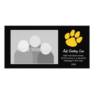 Tiger Paw Print - Sports Fan or Graduation Photo Greeting Card