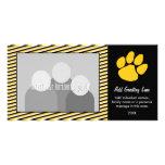 Tiger Paw Print - Sports Fan or Graduation Customized Photo Card