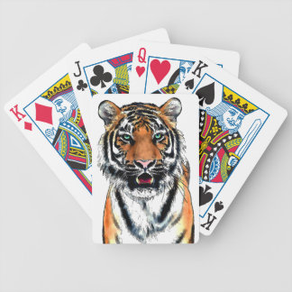 Tiger pen-ink bicycle playing cards