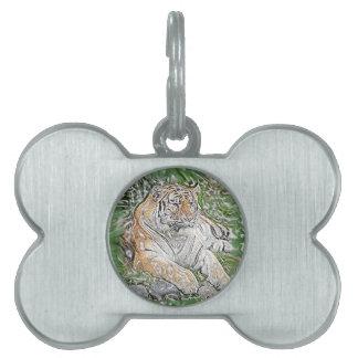 Tiger Pet Tag