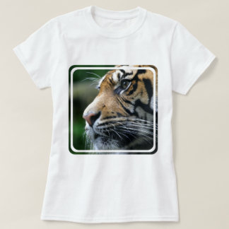 Tiger Picture Ladies Fitted T-Shirt
