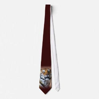 Tiger portrait tie