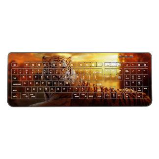 Tiger Portrait Wireless Keyboard