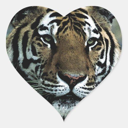 Tiger Power Heart Sticker