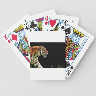 Tiger Predator Fur Beautiful Dangerous Cat Bicycle Playing Cards