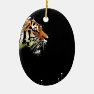 Tiger Predator Fur Beautiful Dangerous Cat Ceramic Ornament