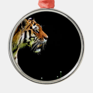 Tiger Predator Fur Beautiful Dangerous Cat Metal Ornament