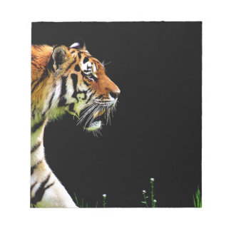 Tiger Predator Fur Beautiful Dangerous Cat Notepad