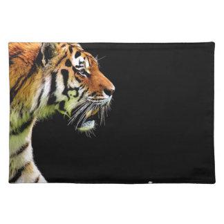 Tiger Predator Fur Beautiful Dangerous Cat Placemat