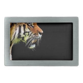 Tiger Predator Fur Beautiful Dangerous Cat Rectangular Belt Buckle