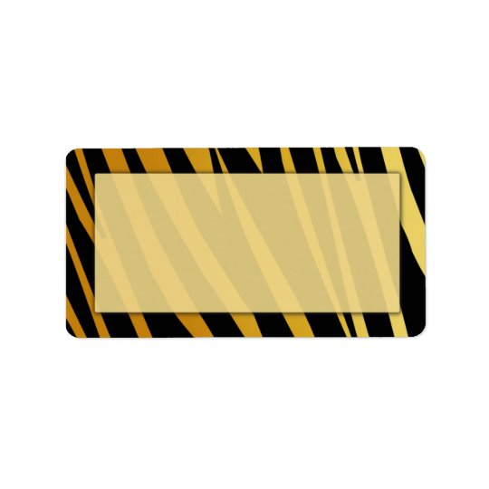 Tiger Print Address Labels