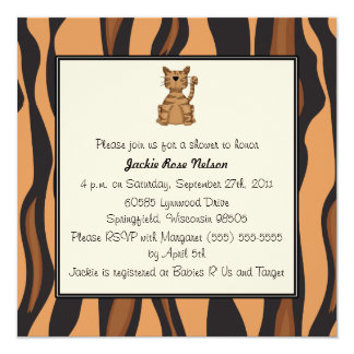 Tiger Print Baby Shower Card