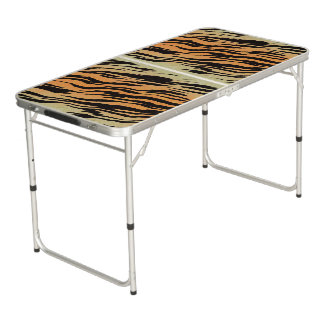 Tiger Print Beer Pong Table
