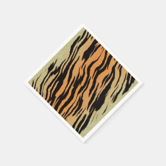 Tiger Print Disposable Napkins