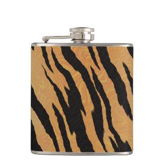 Tiger Print Hip Flask