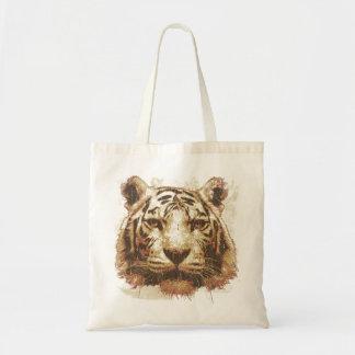 Tiger Print Light Tote Bag