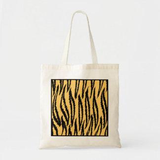Tiger Print Orange and Black Pattern Bags