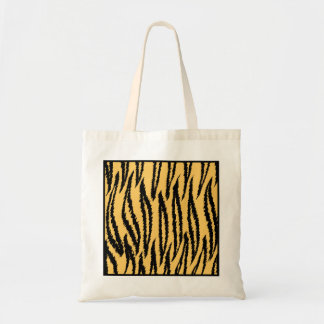 Tiger Print. Orange and Black Pattern. Tote Bag