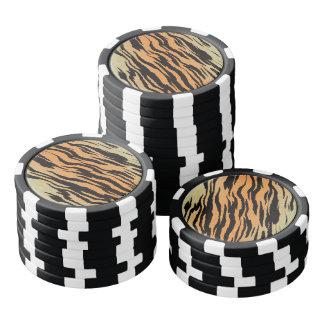 Tiger Print Poker Chips
