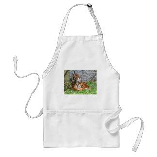 Tiger print standard apron