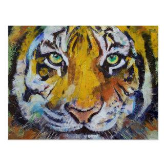 Tiger Psy Trance Postcard