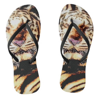 Tiger Purple Nose Flip Flops for Women