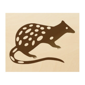 Tiger quoll wall art wood canvases