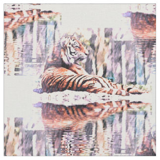Tiger Reflection Fabric