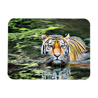 Tiger Reflection in the Water Magnet