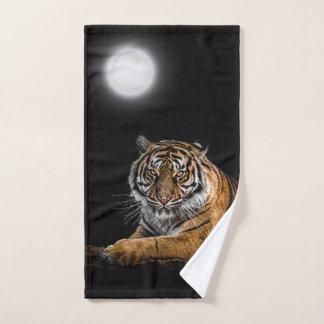 Tiger relaxing hand towel