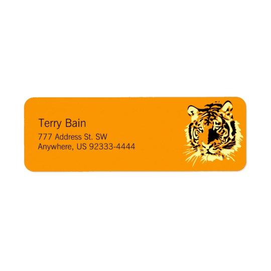 Tiger Return Address Label