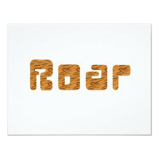 """tiger roar 4.25"""" x 5.5"""" invitation card"""