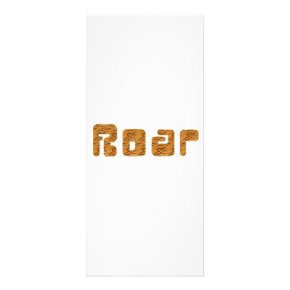 tiger roar full colour rack card