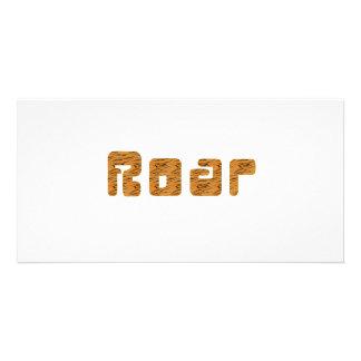 tiger roar photo card template