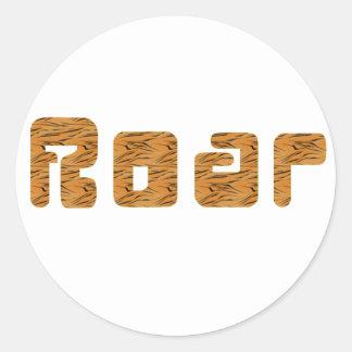tiger roar round sticker