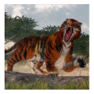 Tiger roaring - 3D render Acrylic Print