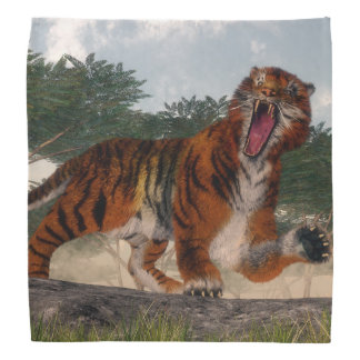 Tiger roaring - 3D render Bandana
