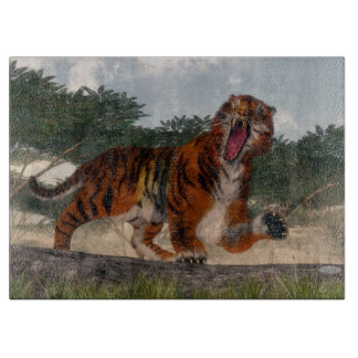 Tiger roaring - 3D render Boards