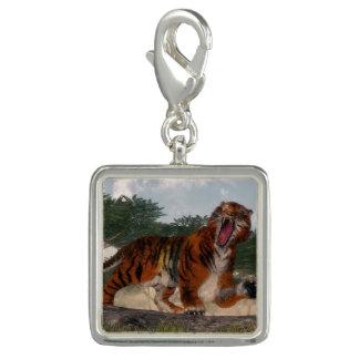 Tiger roaring - 3D render Charm